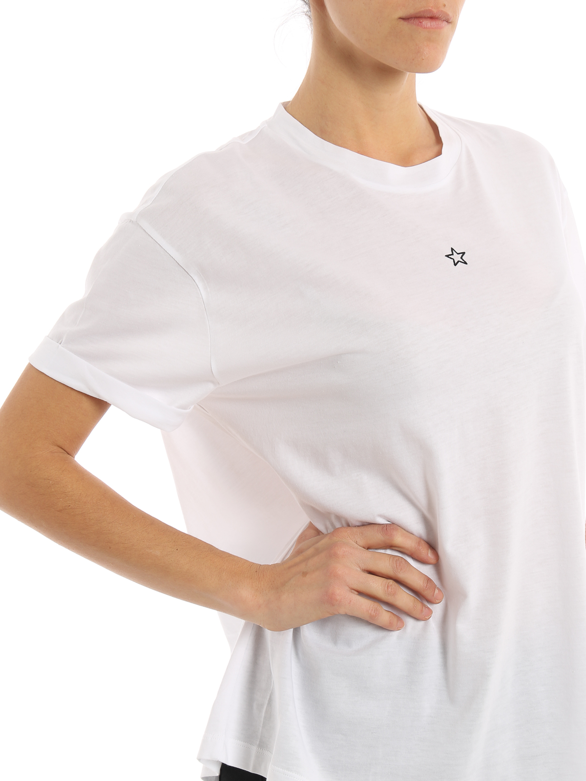 Micro star embroidery t shirt by stella mccartney