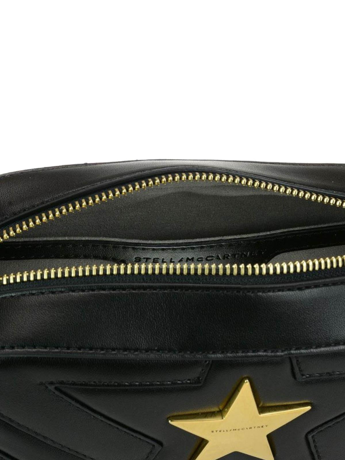 2f51dce2aa60 Stella Mccartney - Stella Star black quilted small bag - cross body ...