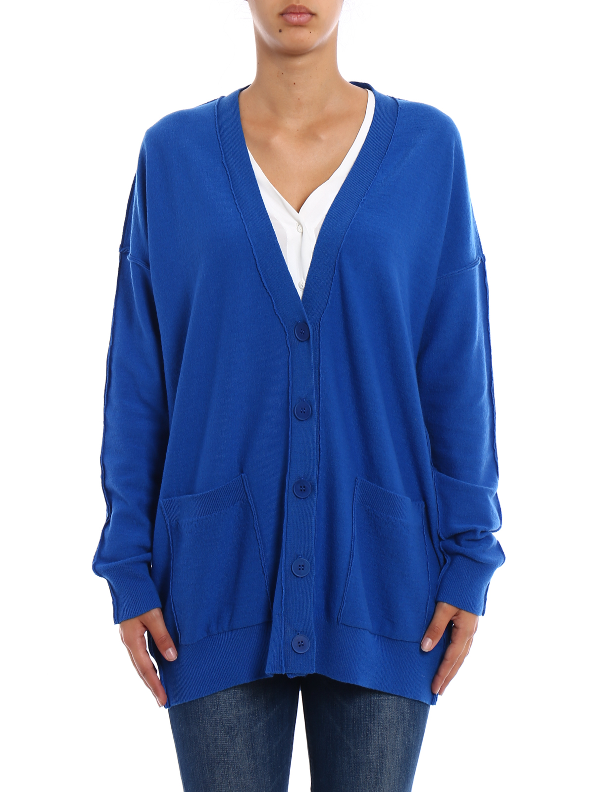 Exposed stitchings wool cardigan by Stella Mccartney - cardigans ...