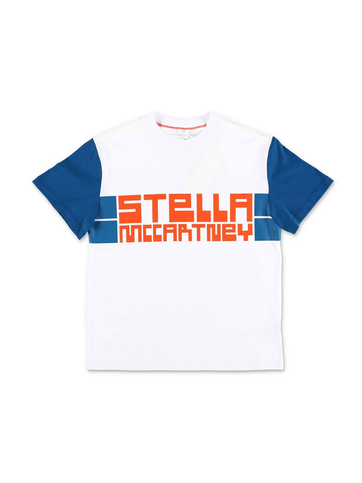 Stella Mccartney Cottons SPORT PRINT T-SHIRT IN WHITE