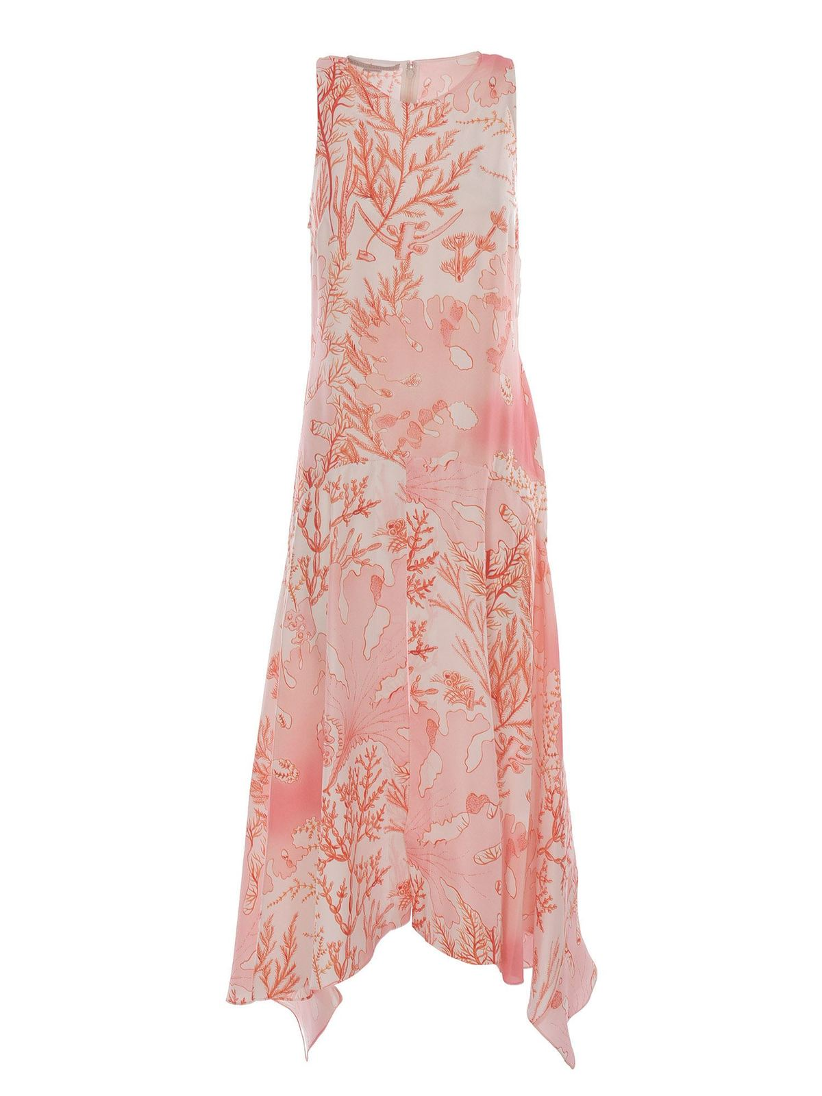 Stella Mccartney CORAL PRINT DRESS IN PINK