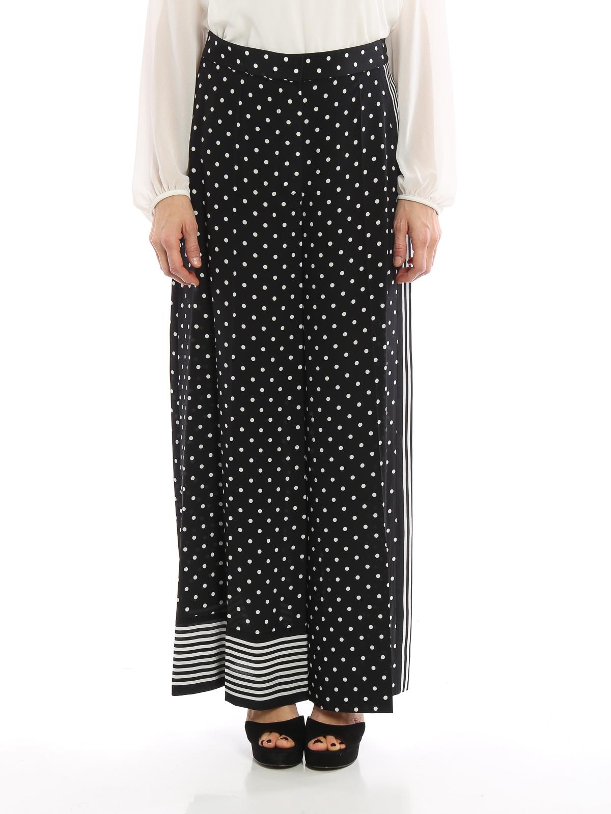 d0991e6106 Stella Mccartney - Pantaloni palazzo in seta a pois - pantaloni ...
