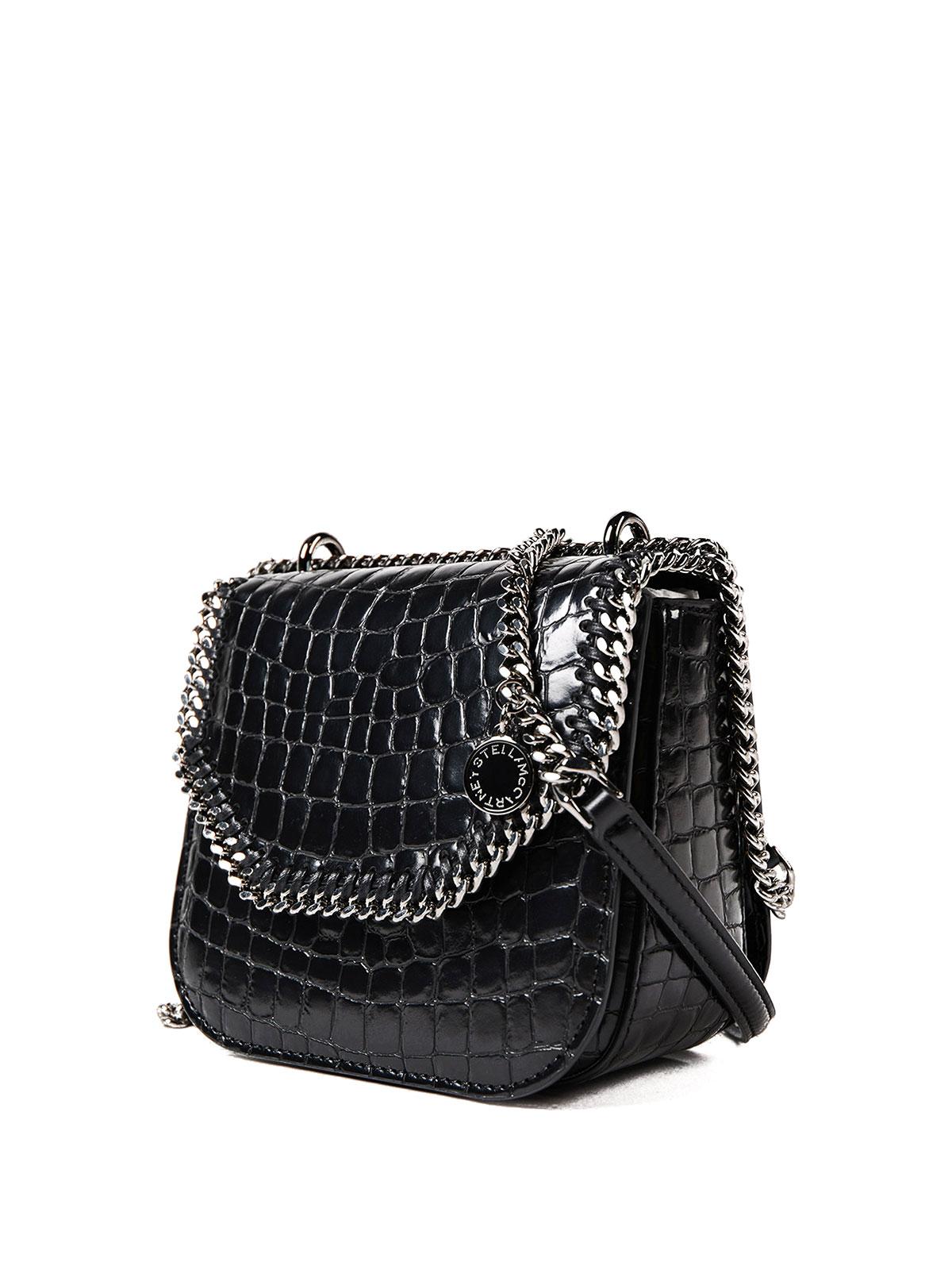 STELLA McCARTNEY  cross body bags online - Croco Falabella Box mini bag a9b2a7a86f556
