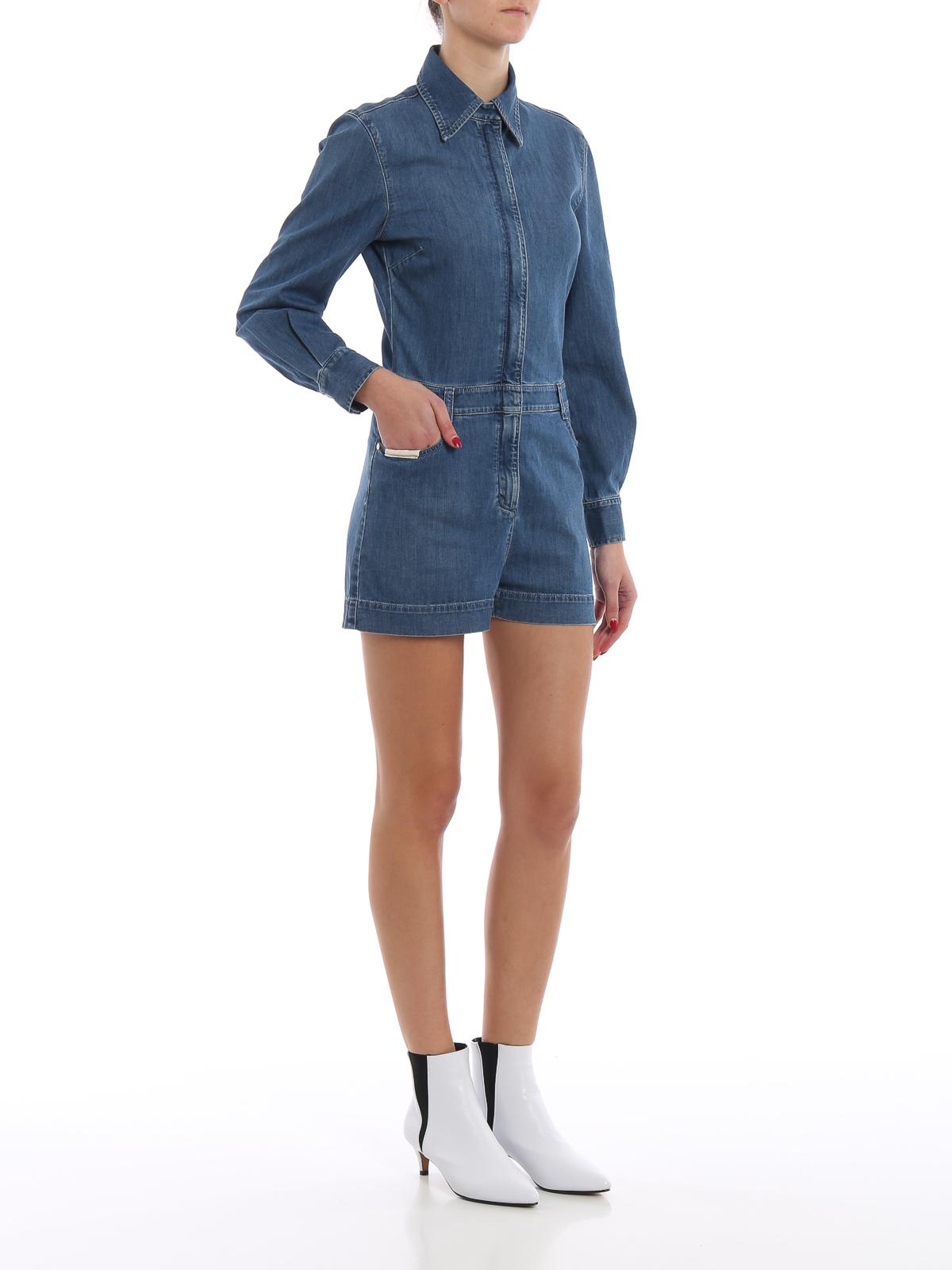 dddecd4ac5de0 STELLA McCARTNEY: jumpsuits online - Denim long sleeve short romper