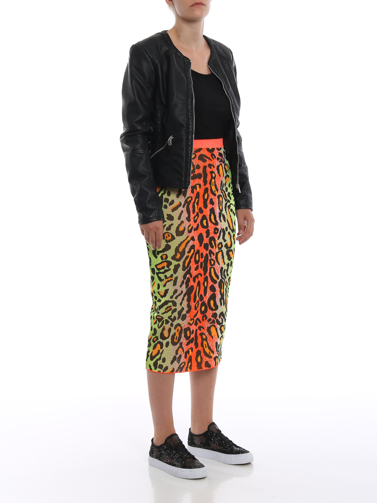 f77daf35bd STELLA McCARTNEY: Knee length skirts & Midi online - Fluo leopard print  pencil skirt