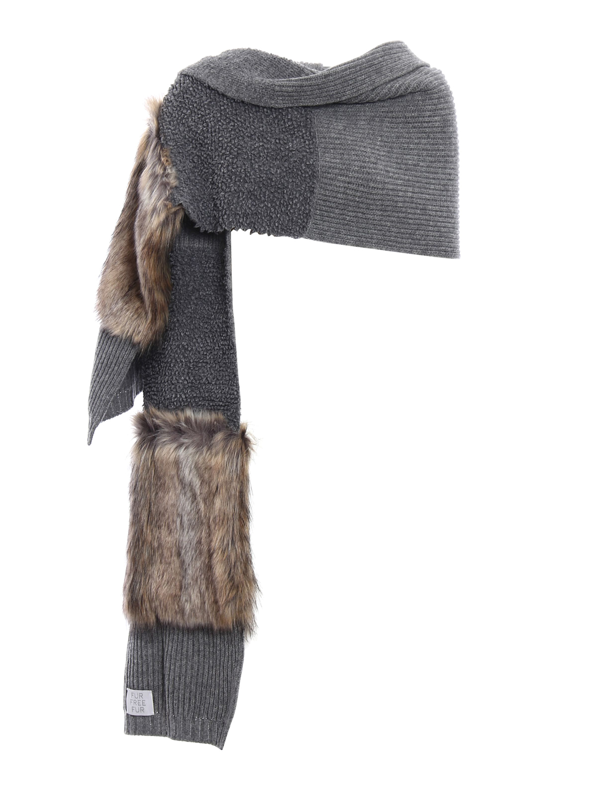 comprare on line a8e87 11878 Stella Mccartney - Sciarpa in lana Fur Free Fur - sciarpe e ...