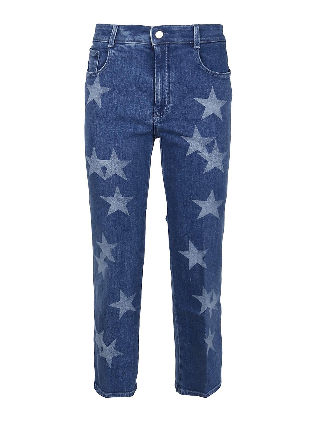 Stella Mccartney Cottons STAR PRINT STRETCH JEANS