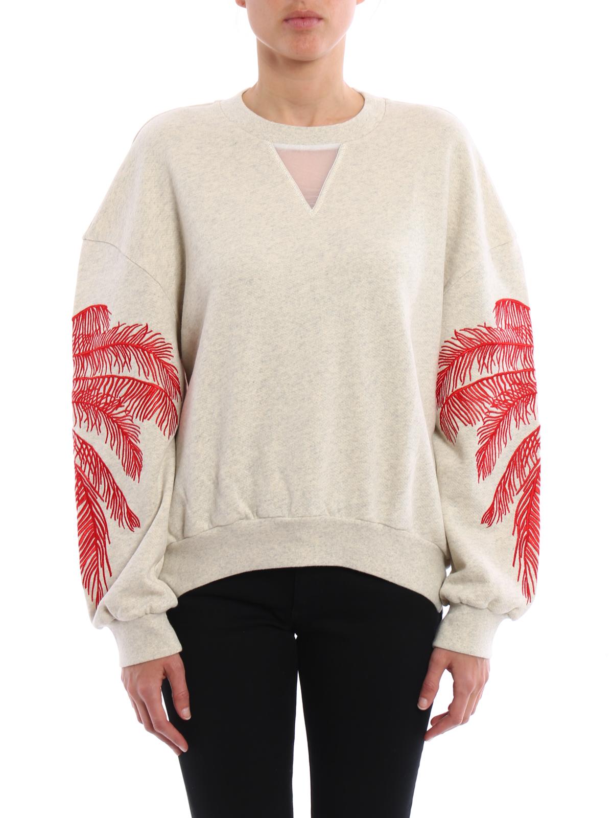 Embroidered cotton sweatshirt by Stella Mccartney - Sweatshirts ...