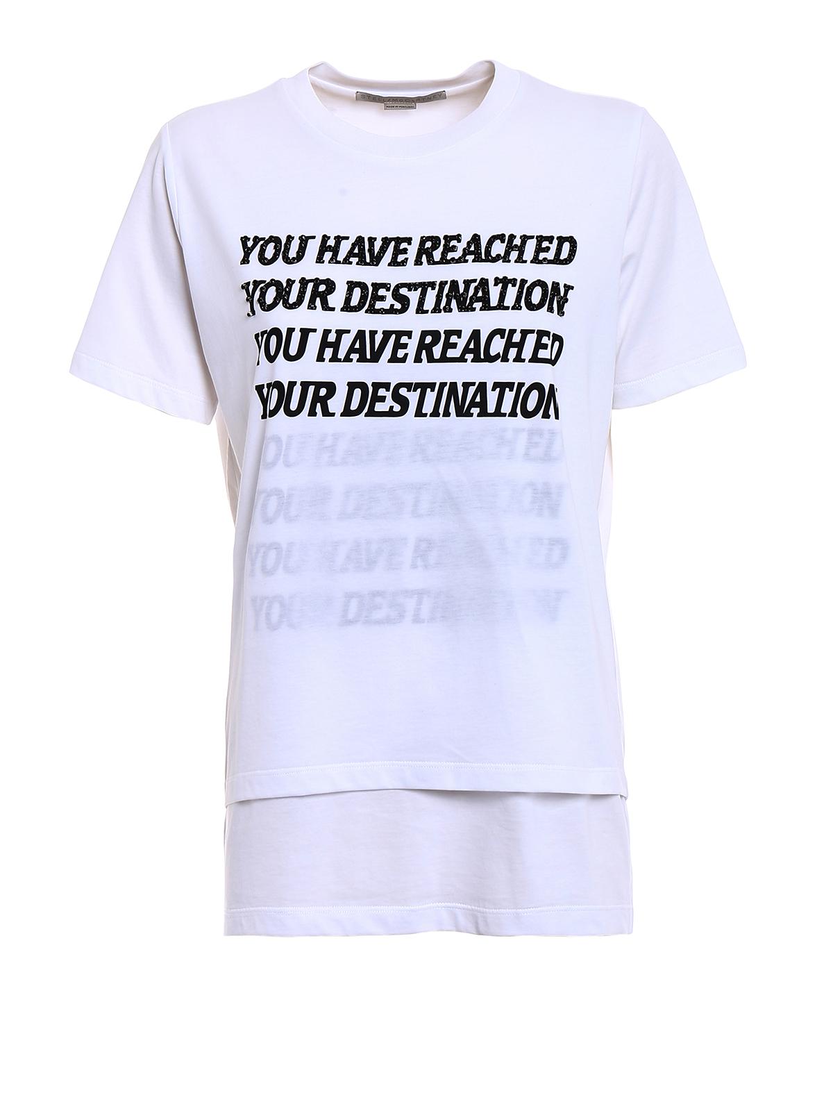 t shirt con decorazione destination stella mccartney t