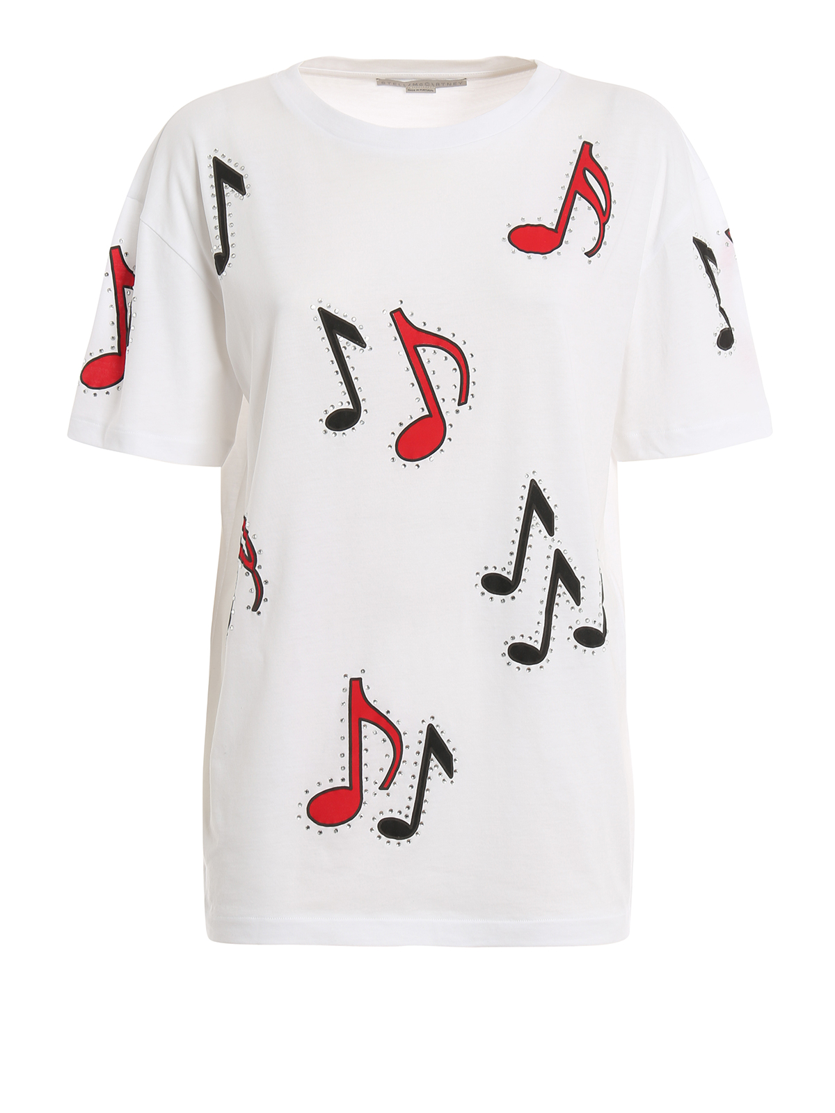 Embellished musical notes t shirt by stella mccartney t for Stella mccartney t shirt