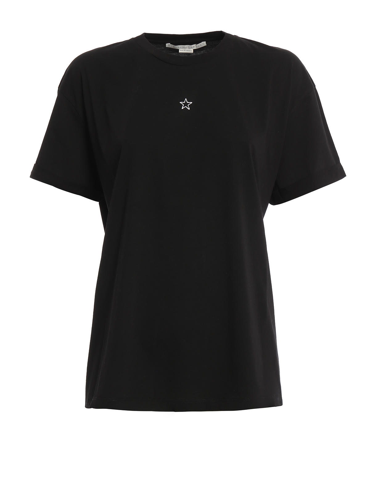 Micro star embroidery t shirt by stella mccartney t for Stella mccartney t shirt