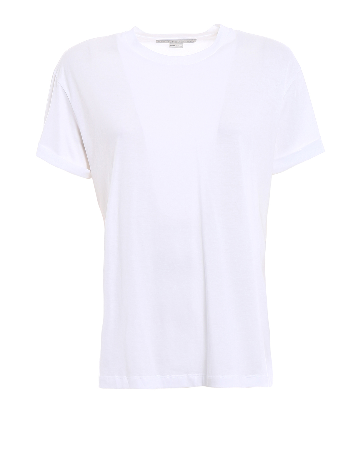 White t shirt with back logo print by stella mccartney t for Stella mccartney t shirt