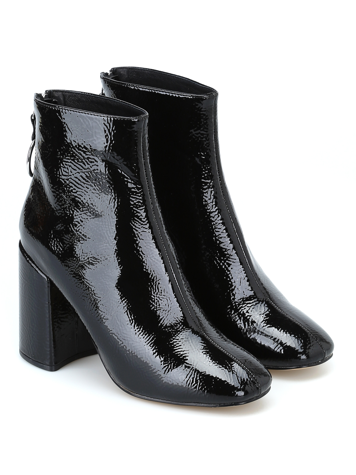 8ba4b46a6d4 Steve Madden  ankle boots online - Posed black faux patent ankle boots