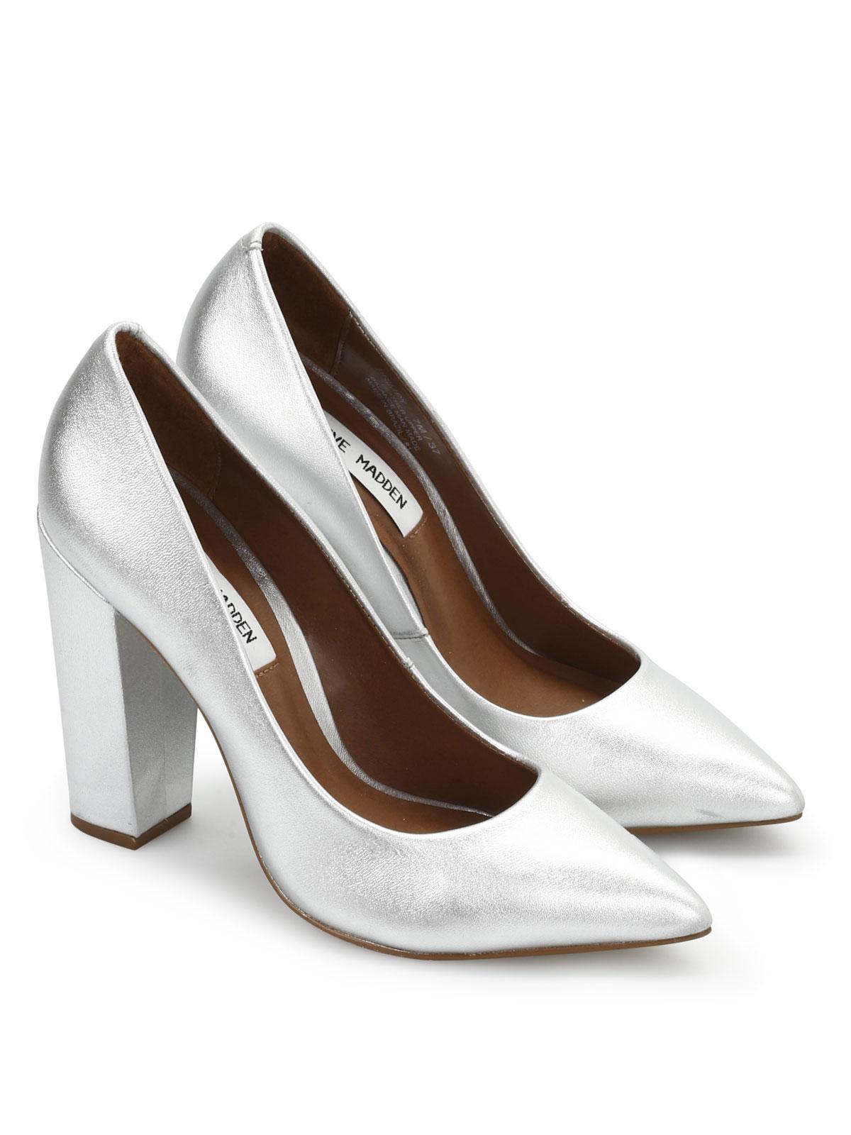 ab9e0822166 Steve Madden - Primpy leather court shoes - court shoes - PRIMPY SILVER