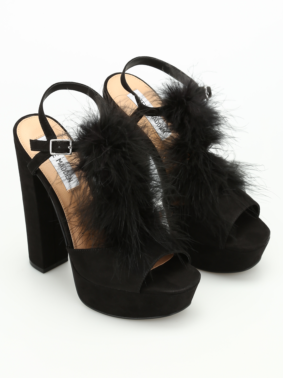 6b03eace7da Steve Madden - Tricia feather sandals - sandals - TRICIA BLACK ...