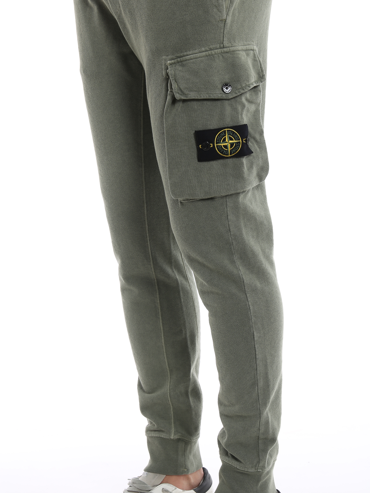 c978f8a989b Stone Island - Army green cotton tracksuit bottoms - tracksuit ...