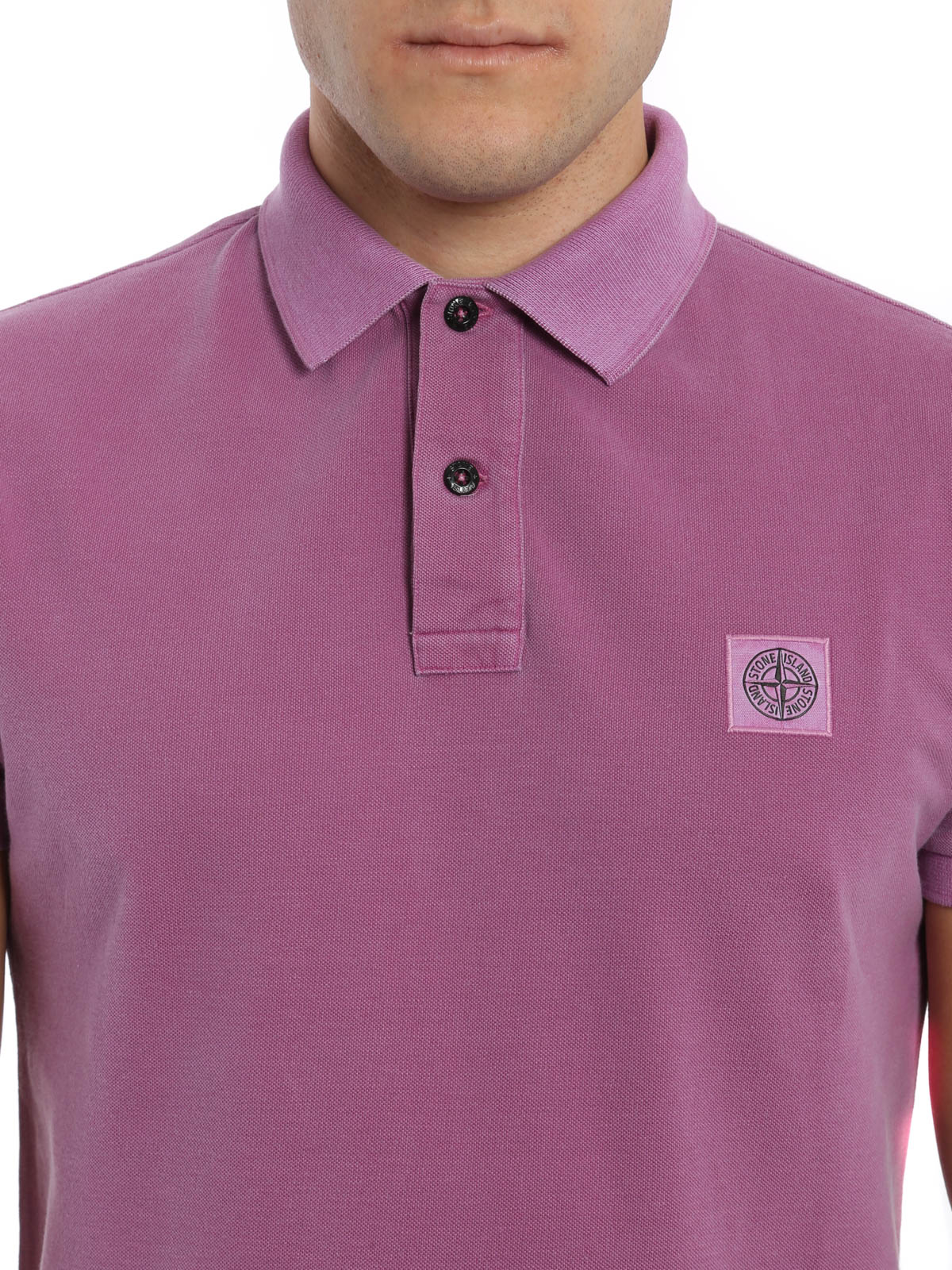 41096a42 Stone Island - Cotton pique polo shirt - polo shirts - 641522S67 V0086