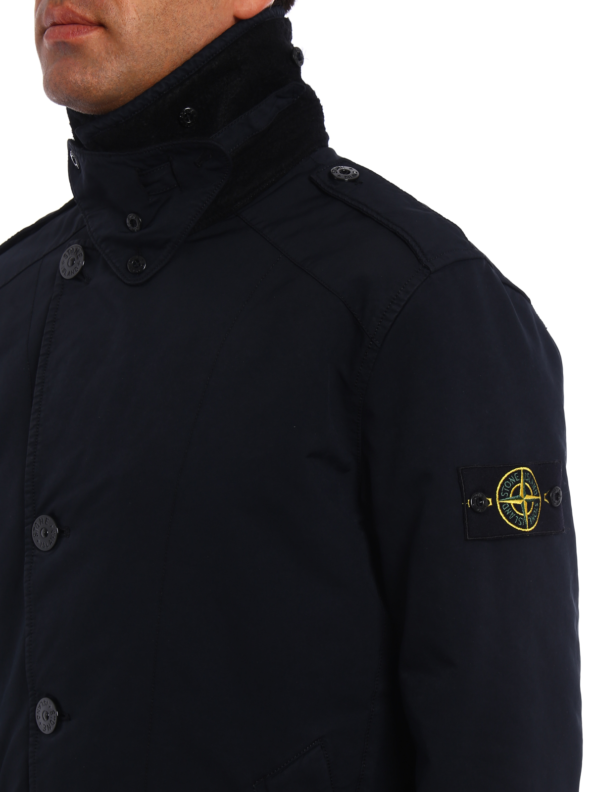 david tc slightly padded trench by stone island trench. Black Bedroom Furniture Sets. Home Design Ideas