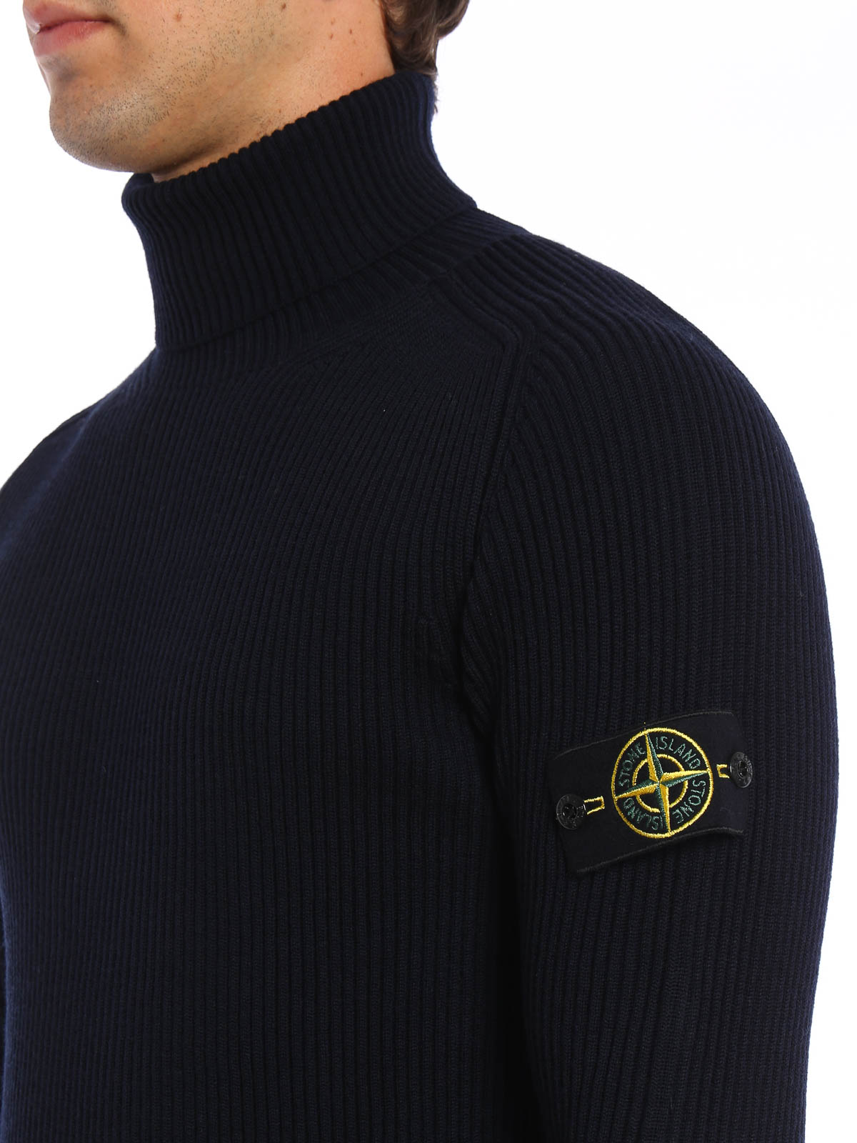 Stone Island Rollkragen Polo Ausschnitt Sweater
