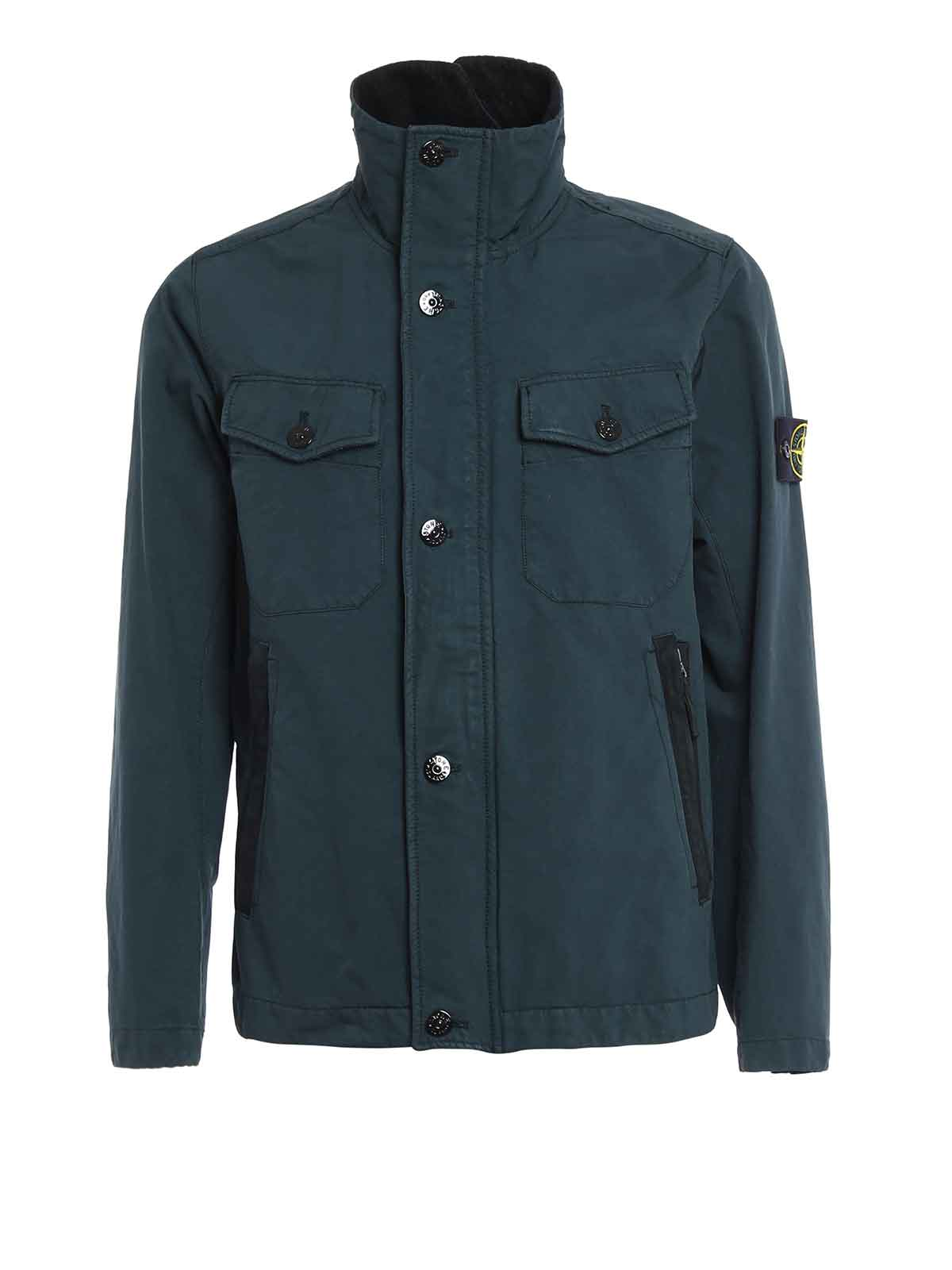 david tc field jacket by stone island casual jackets ikrix. Black Bedroom Furniture Sets. Home Design Ideas