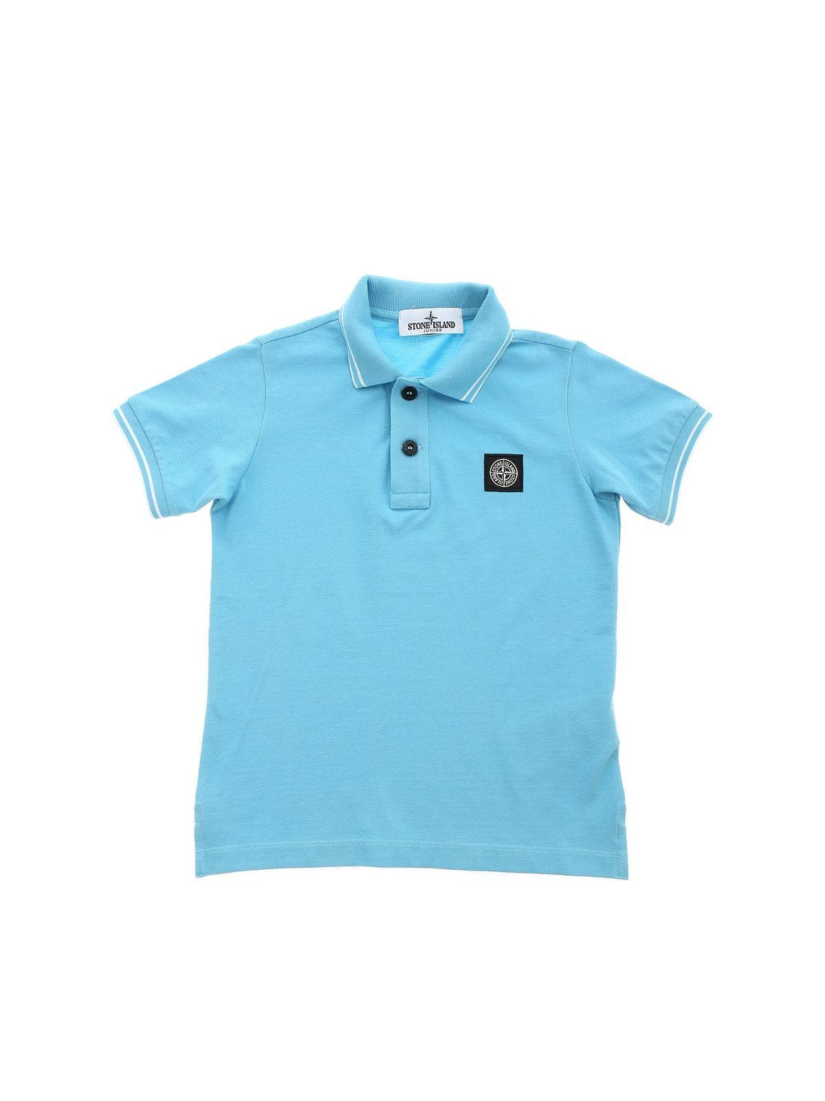 Stone Island Junior Shirts LOGO POLO SHIRT