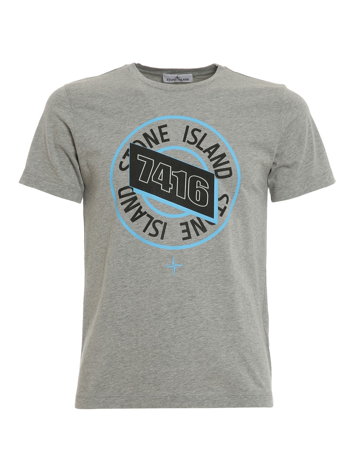Stone Island Junior T-shirts LOGO MELANGE JERSEY T-SHIRT