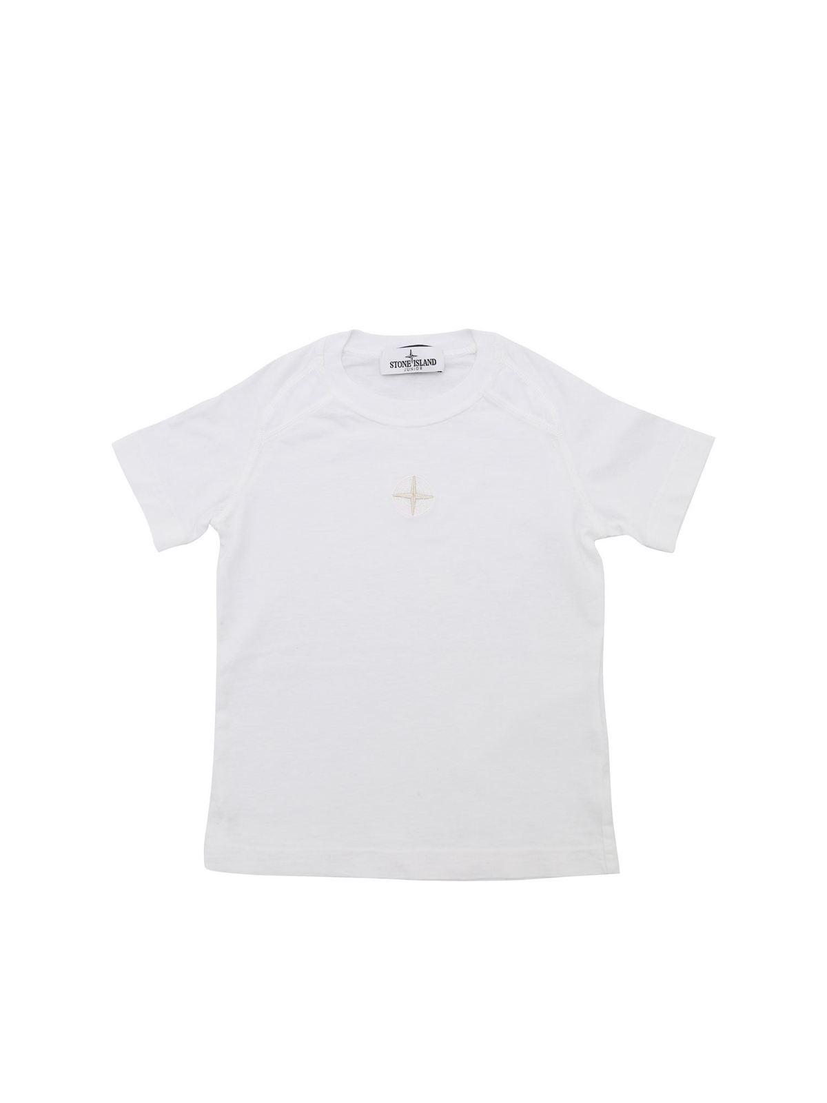 Stone Island Junior LOGO T-SHIRT IN WHITE