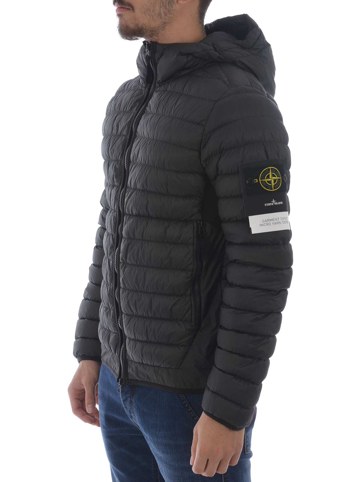 exquisite style lower price with promo codes Stone Island - Dark grey ultralight padded jacket - padded jackets ...