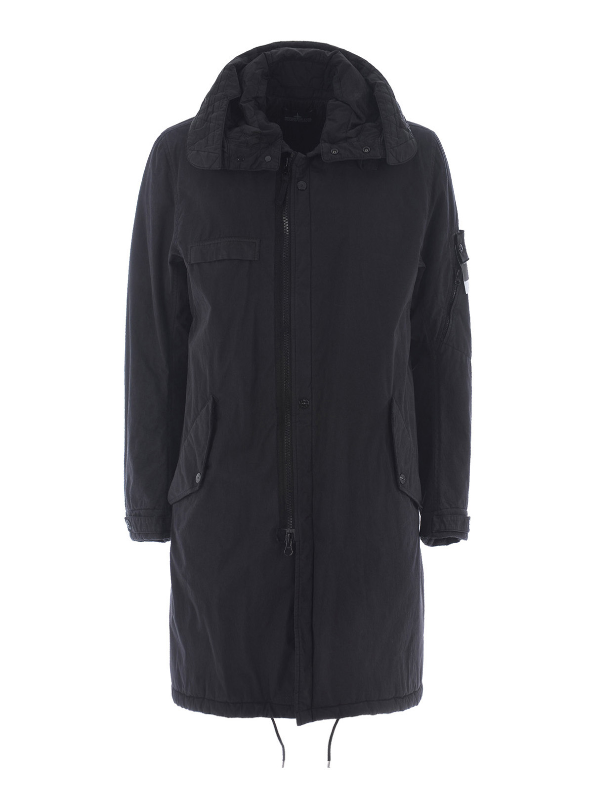 fishtail parka padded coat by stone island padded coats. Black Bedroom Furniture Sets. Home Design Ideas