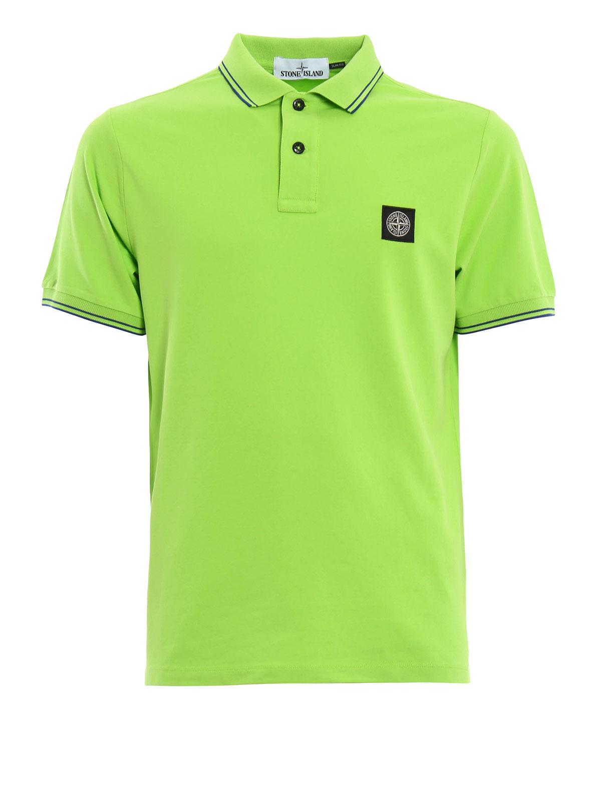 Cotton pique polo shirt by stone island polo shirts ikrix for Cotton on polo shirt