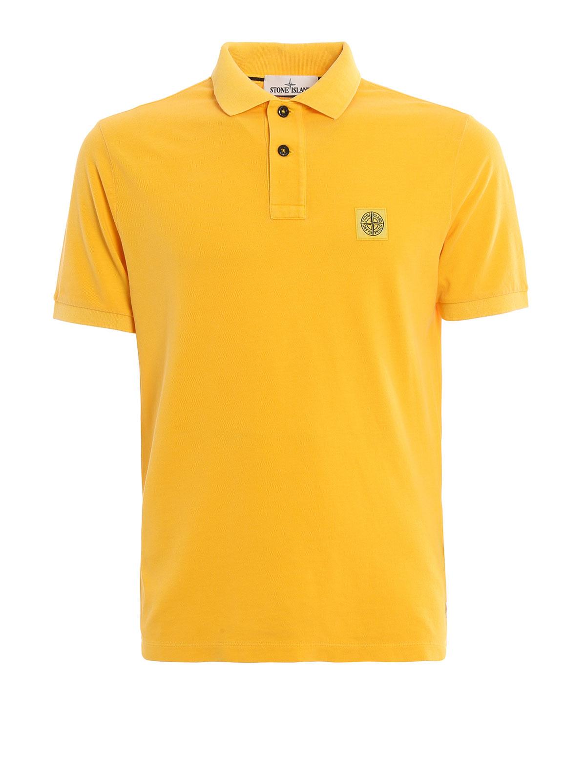 Cotton pique polo shirt by stone island polo shirts for Cotton on polo shirt