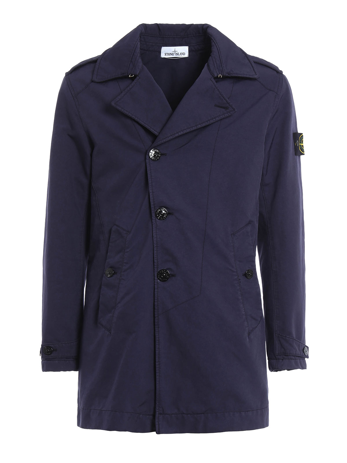 david tc trench coat by stone island trench coats ikrix. Black Bedroom Furniture Sets. Home Design Ideas
