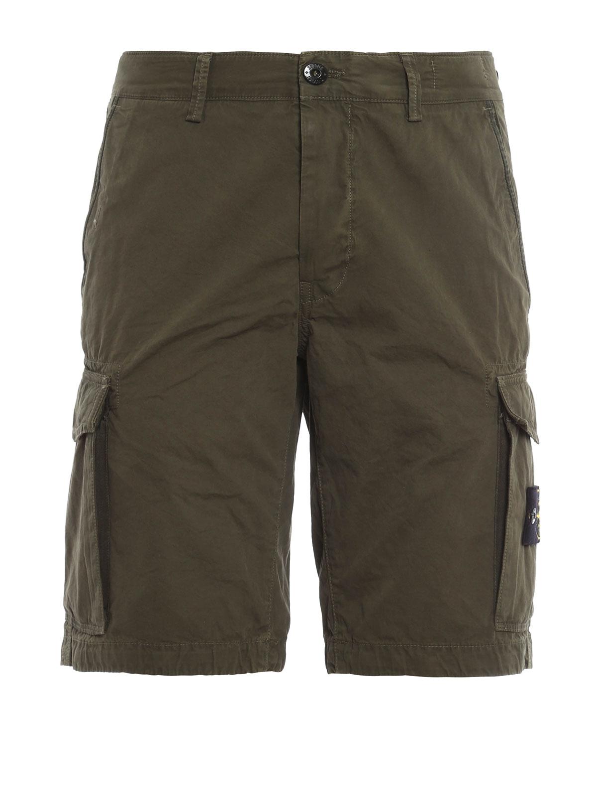 shorts fur herren gr n von stone island hosen shorts. Black Bedroom Furniture Sets. Home Design Ideas