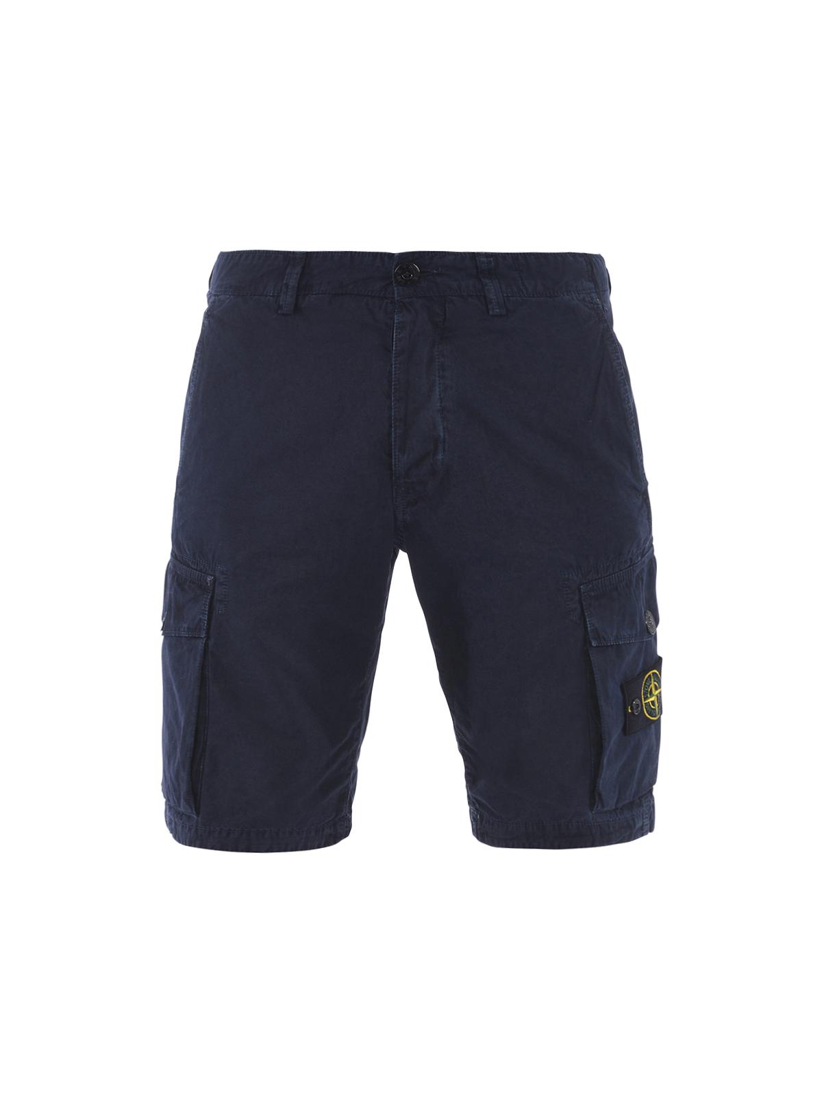 shorts fur herren dunkelblau von stone island hosen. Black Bedroom Furniture Sets. Home Design Ideas