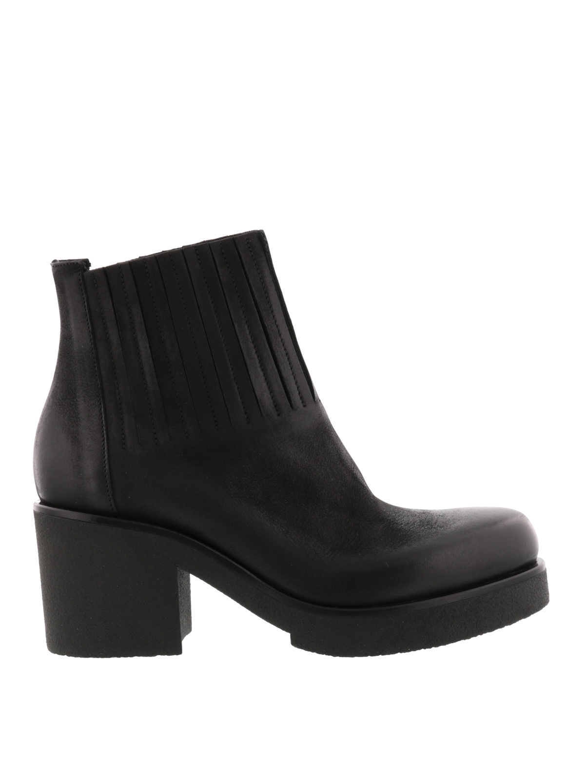 stretch leather ankle boots by strategia ankle boots ikrix