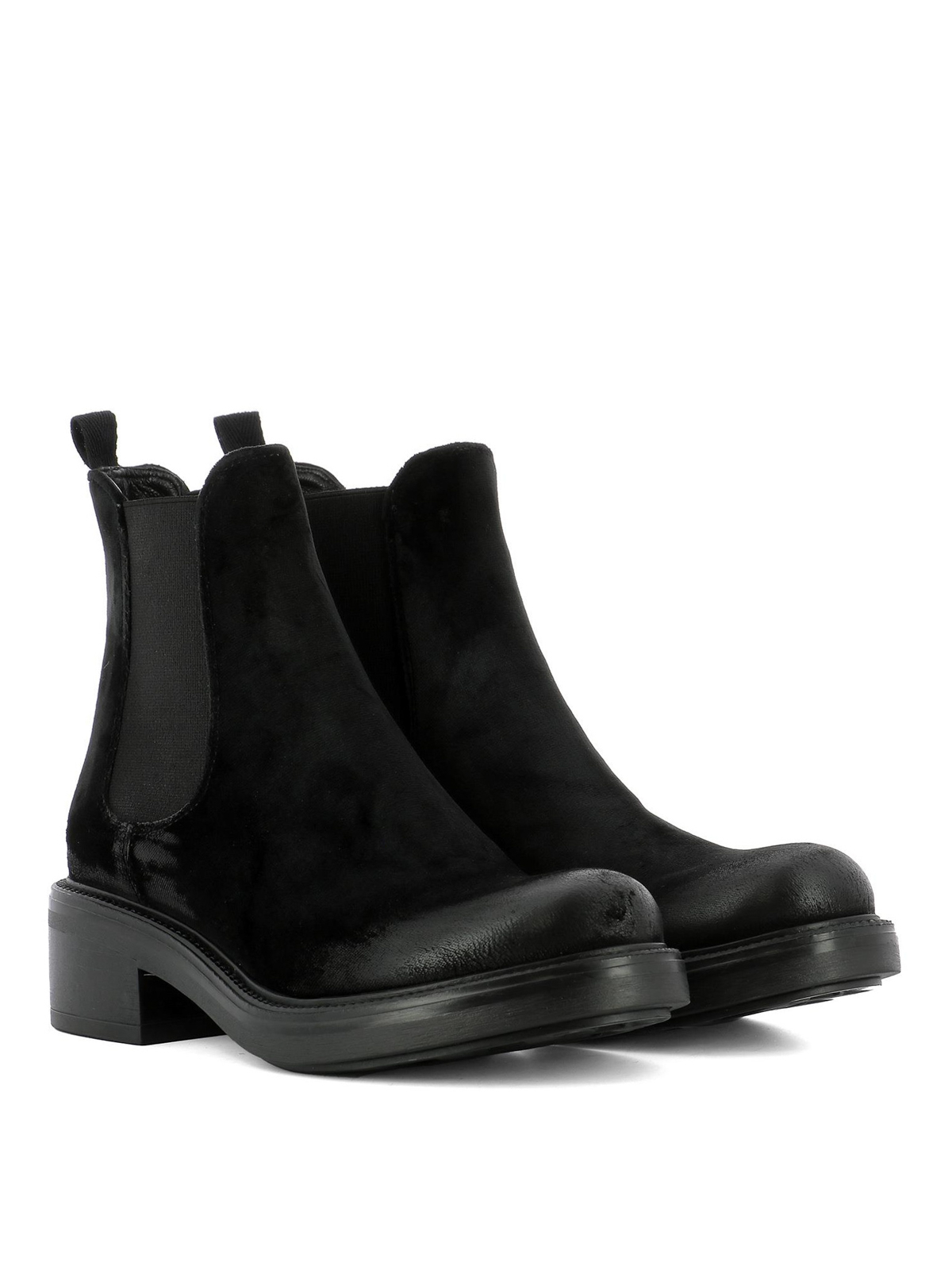 black velvet chelsea boots