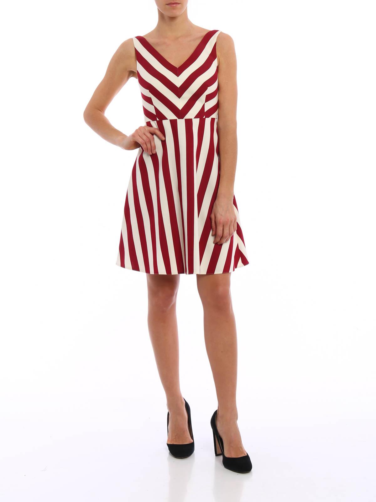 Striped short dress Valentino lyZI86As