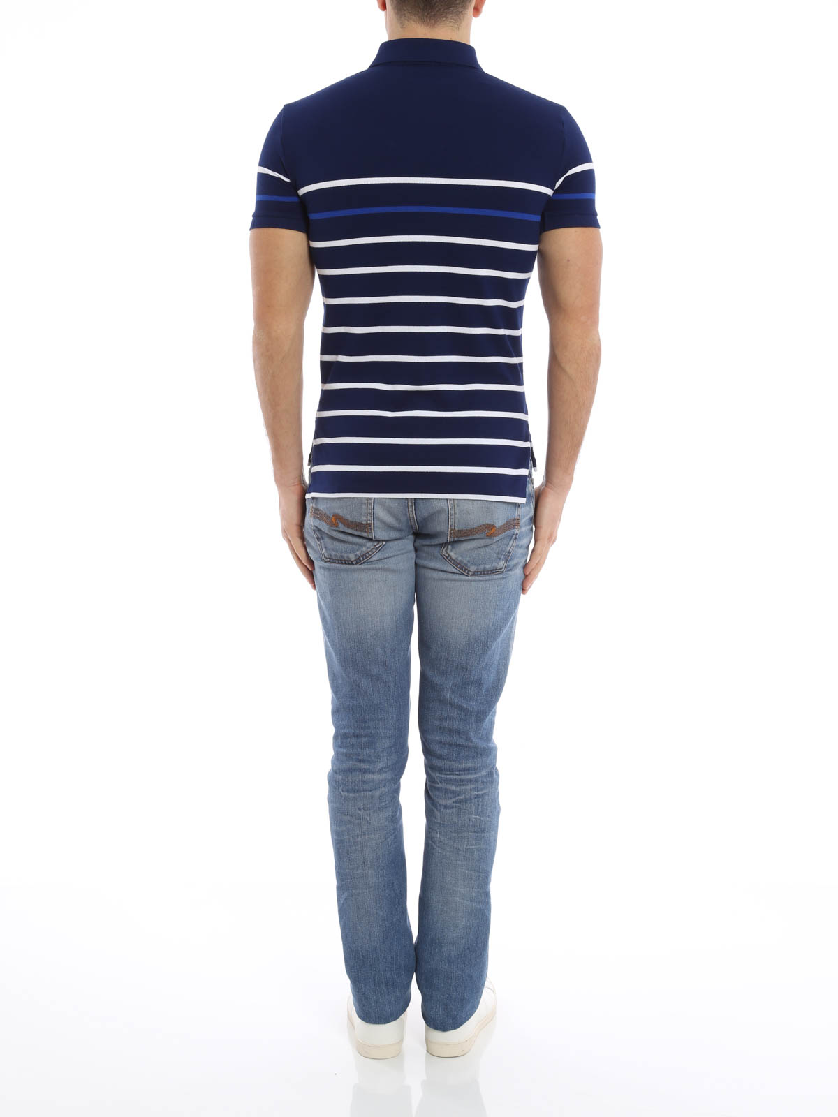 ... Striped cotton pique polo shirt shop online: Polo Ralph Lauren ...
