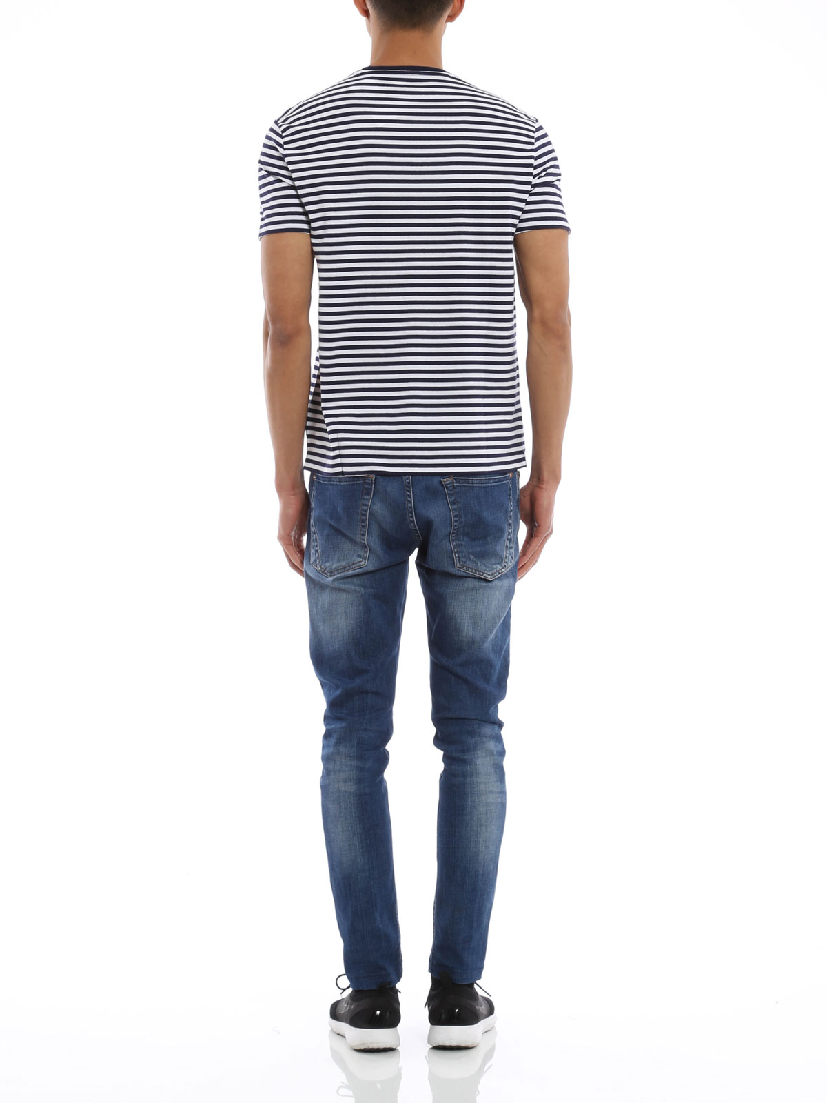 Striped cotton T-shirt by Polo Ralph Lauren - t-shirts | iKRIX