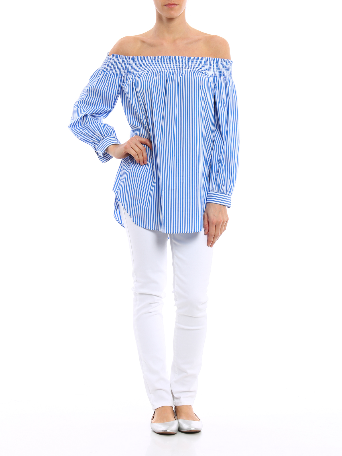 2aea73541aa5d0 Polo Ralph Lauren - Striped off the shoulder blouse - blouses ...