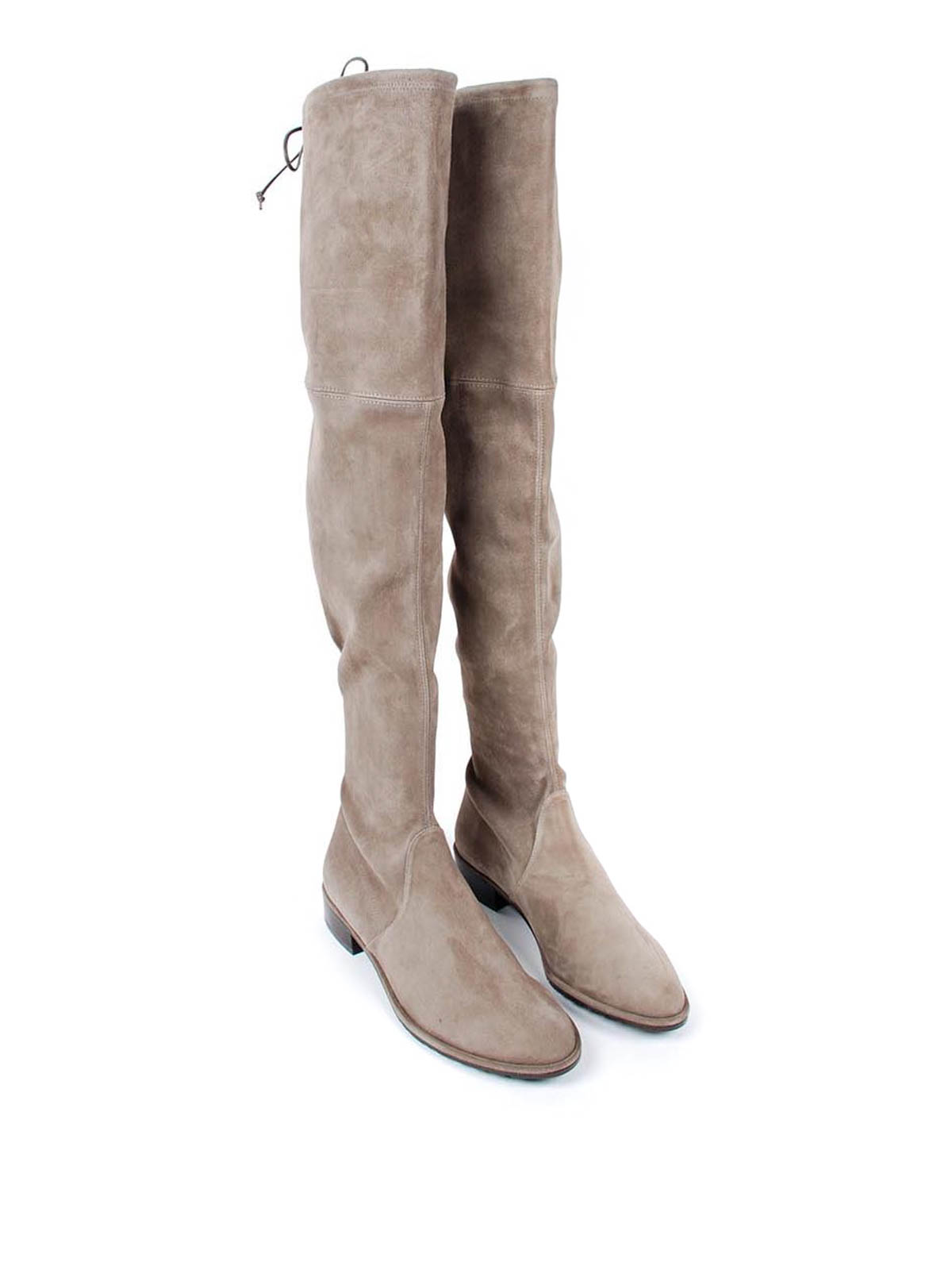 Stuart Weitzman Cuissard suede boots with string Bottes