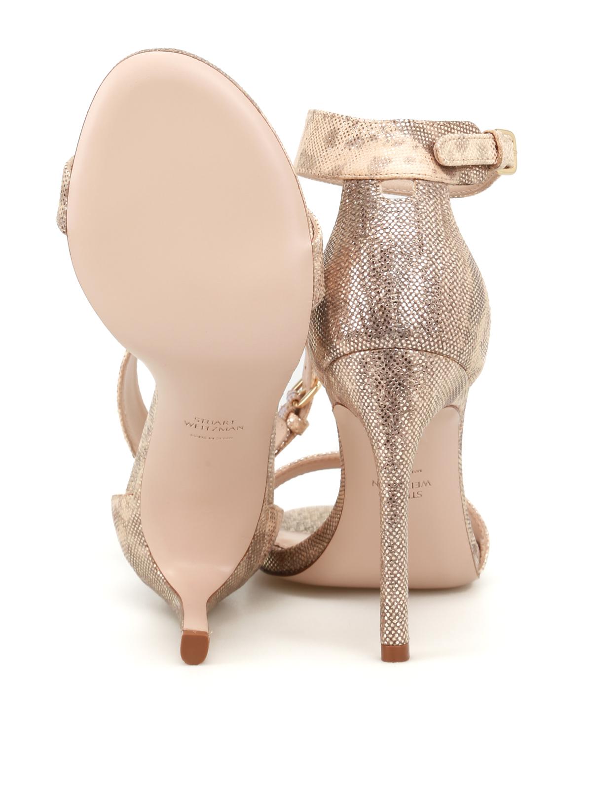 351ae41b2c5ed Stuart Weitzman - Backuptiz printed leather sandals - sandals ...