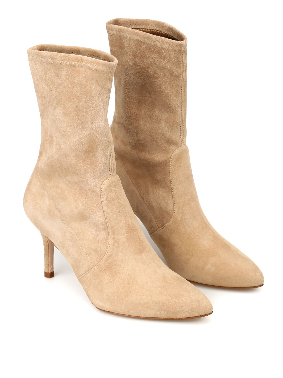 f50f83ce1b2 Stuart Weitzman - Cling suede booties - ankle boots - XL15812 ...