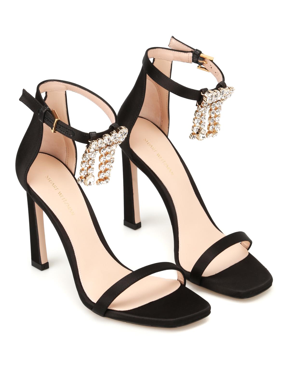 67f51c6f1831 Stuart Weitzman  sandals online - 100Fringesquarenudist satin sandals