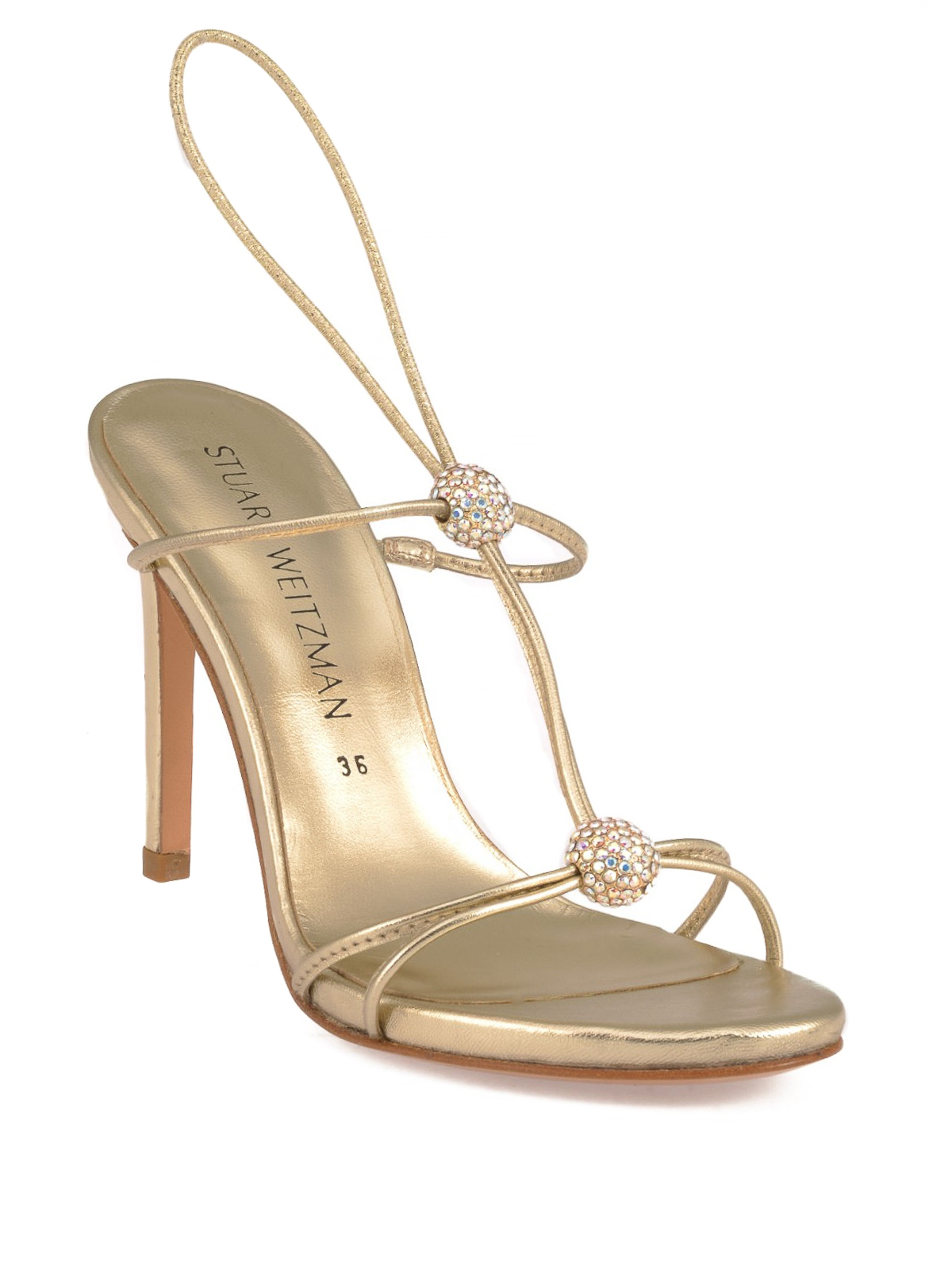 43ff230361a7b Stuart Weitzman  sandals online - Trixie embellished leather sandals