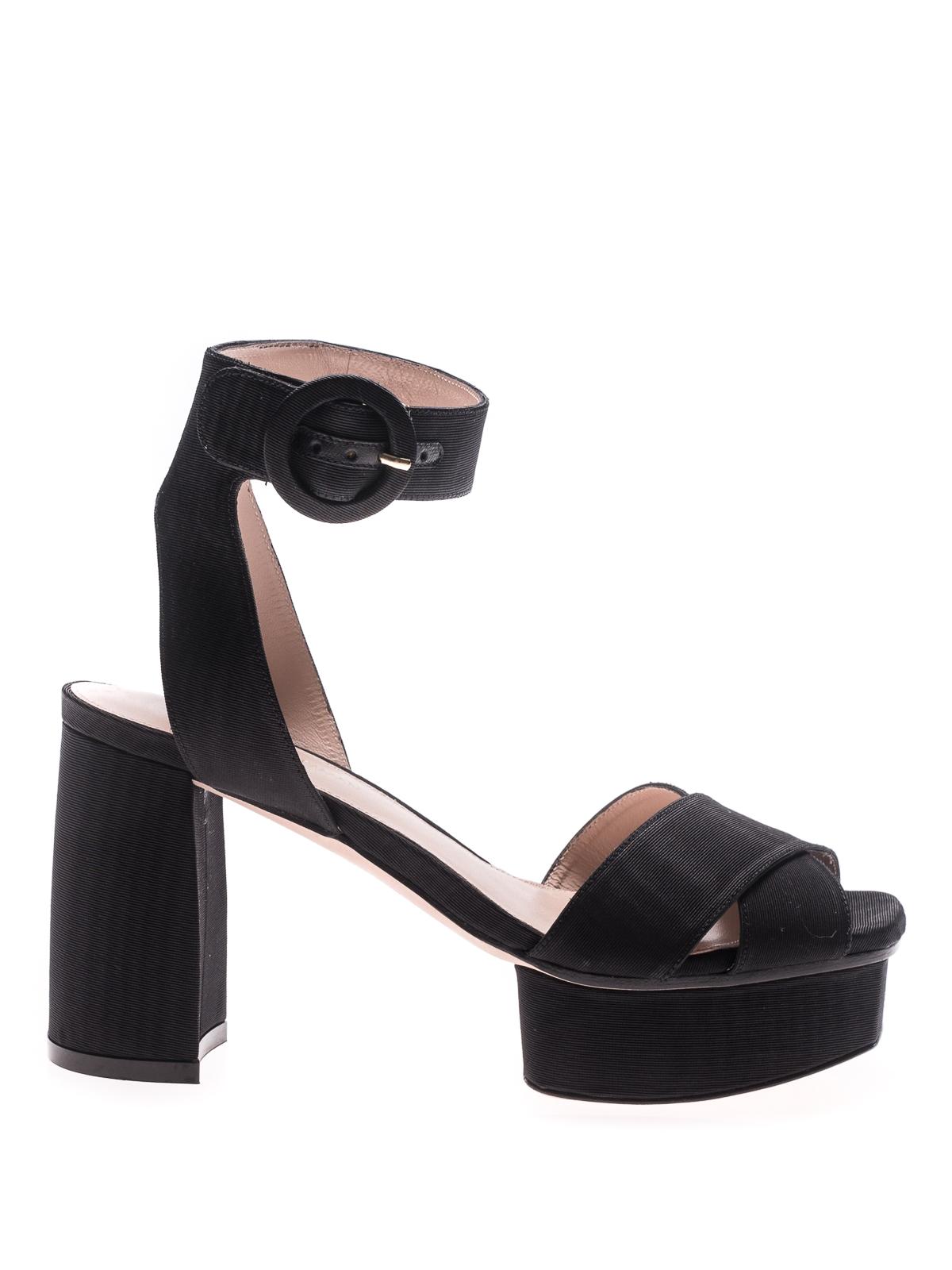Carmina black platform sandals