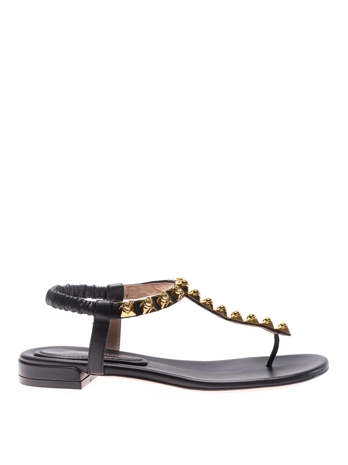 a50814eaa3b6 Stuart Weitzman - Esme thong flat sandals - sandals - ESME BLACK