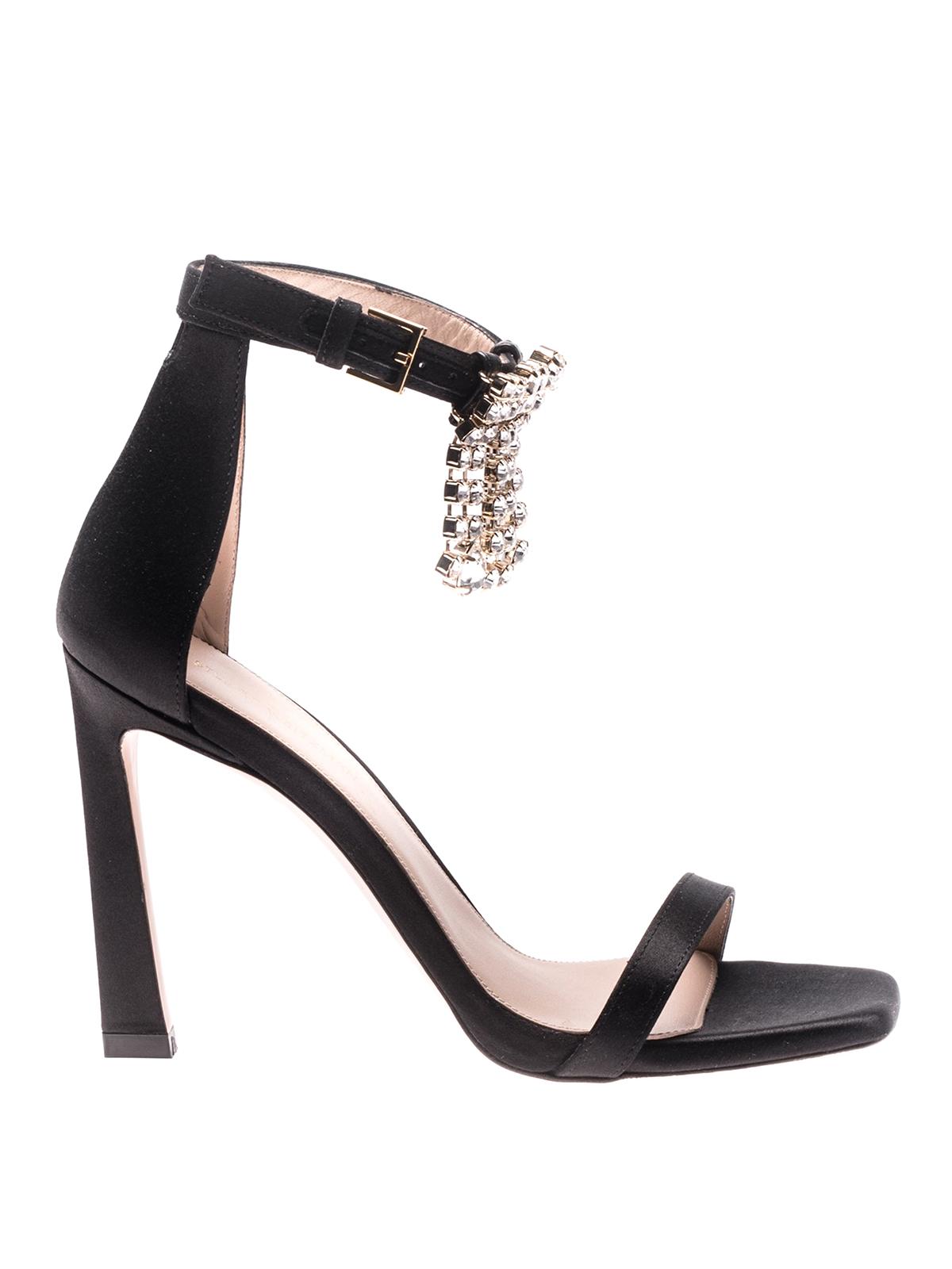 12bc83493b2a9 Stuart Weitzman - Nudist silk satin fringed sandals - sandals ...