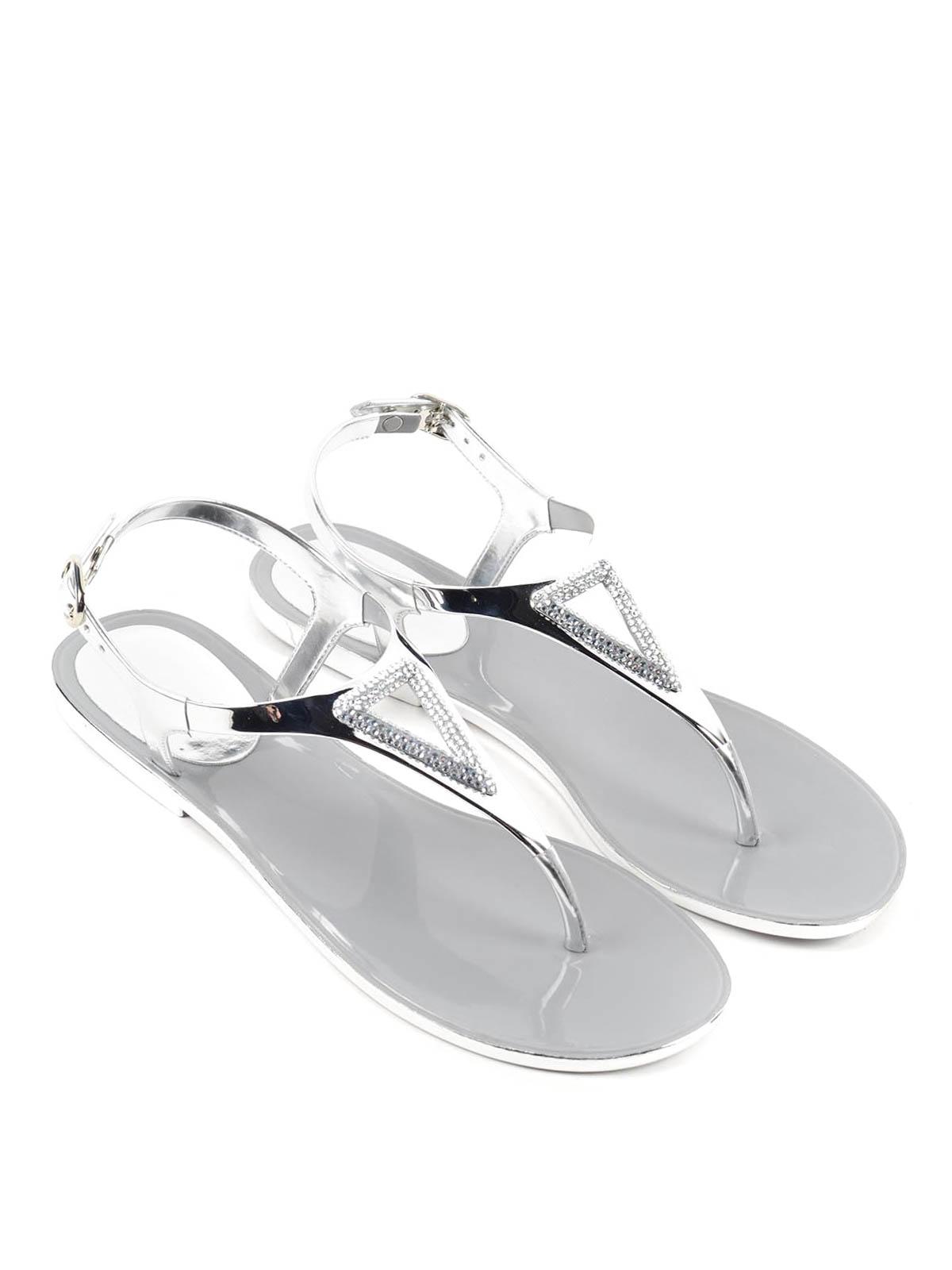 83a38d6fafa20 Stuart Weitzman - Thong sandals with rhinestones - sandals ...