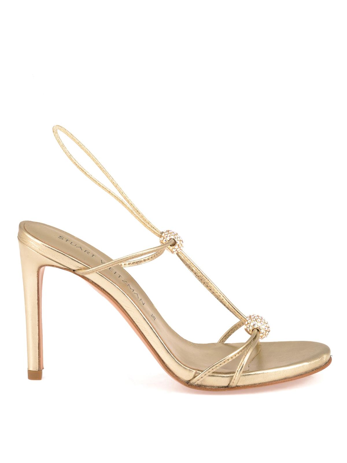 a8664675d3e3b Stuart Weitzman - Trixie embellished leather sandals - sandals ...